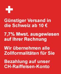 Informationen f�r unsere Kunden aus der Schweiz