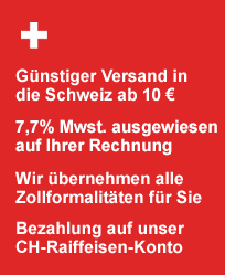 Informationen für unsere Kunden aus der Schweiz