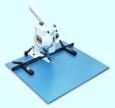 Hang Piccolo S Ösapparat mit Tisch, max. 50 Blatt vorgelocht, Durch. 3-6mm