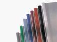 Thermobindemappe Lederprägung A4 / 4 mm für 30-40 Blatt/ VE 100 Stück, mit Schlitzstanzung für Ibifile Abheftzungen