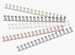 Drahtbinderücken 3:1-Tlg. 12,7mm, 100St. silber