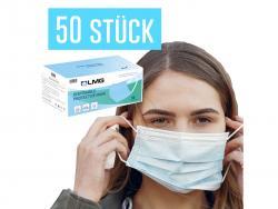 50x OP Masken, atmungsaktive Einwegmasken der Sicherheitsklasse EN14683:2019TYPE II